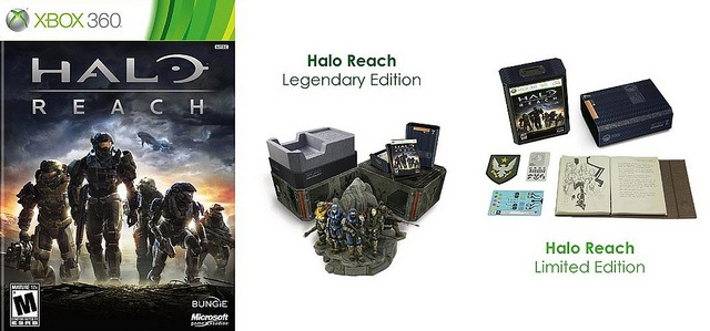 Halo: Reach Video Game for Xbox 360 ( Standard or Legendary Edition or Limited Edition )  Company: Microsoft Game Studios, Bungie Software  Genre: Sci-Fi First-Person Shooter  Titles Rated: M ( Mature )  Release Date: September 14, 2010       Video Game Systems  Information.