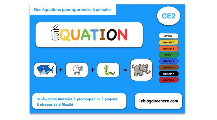 Équation – Résoudre des équations illustrées