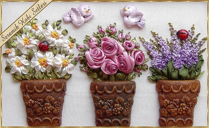 Miniature Ribbon Embroidery