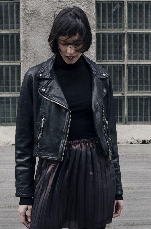 BARRY LEATHER JACKET BLACK - Shineshop.no - Luxury Designer Fashion Online