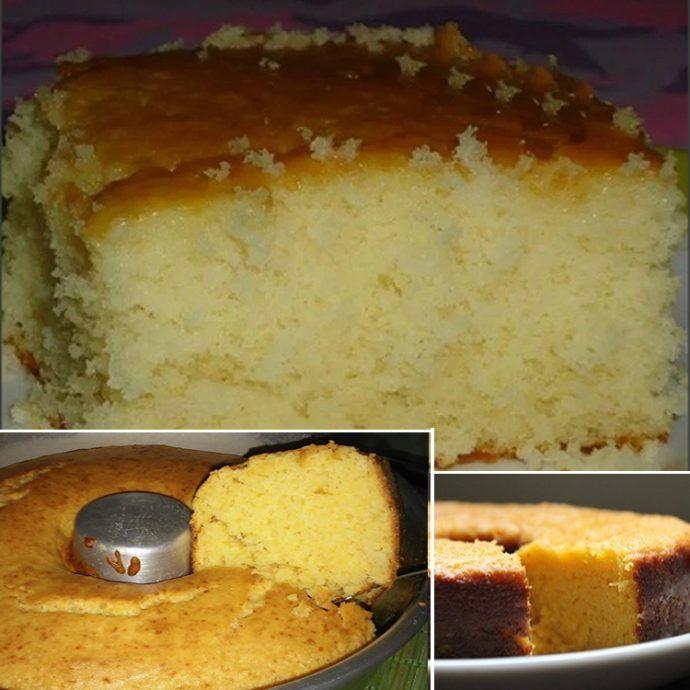 esse bolo é muito fofo e fica bem molhadinho. Vai apenas 5 ingredientes e faz o maior sucesso – Caderno de Receita