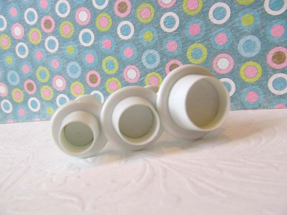 Round Shape Cake Decorating Plunger Cutters Fondant Tools Sugarcraft polymer clay