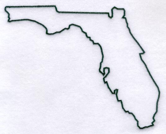 Florida Outline. New tattoo with a heart in it to represent where I found my soulmates.