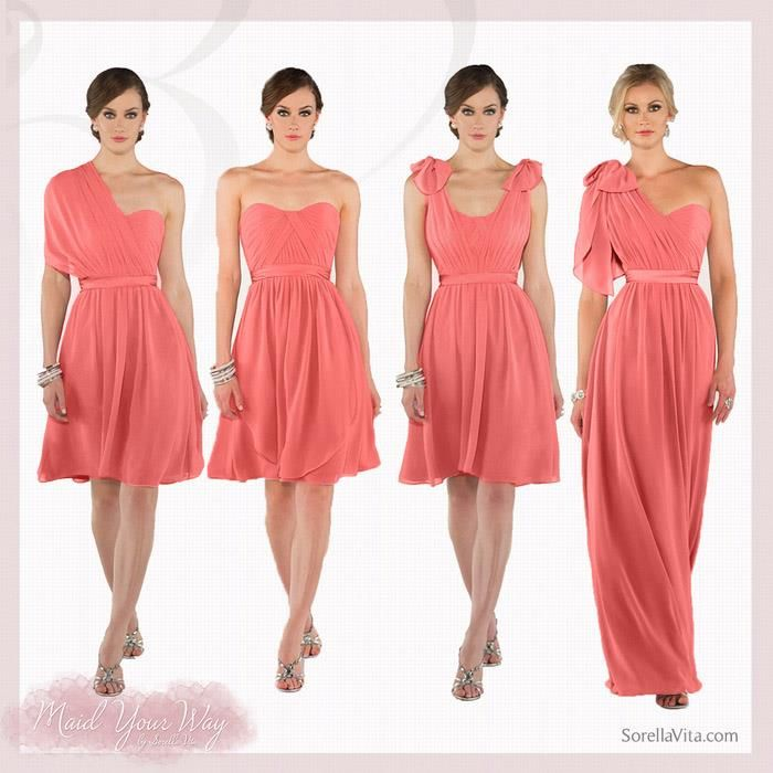 Choosing mix-n-match dresses and going the non-traditional route is the newest in wedding trends.