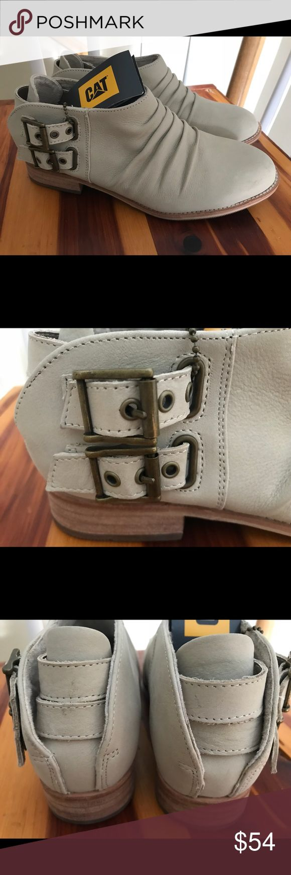 CAT Caterpillar Earthmovers Double Monk Buckle 7.5 Brand new with tags- CAT Caterpillar Earthmovers Double Monk Buckle Slip-On Loafer. Leather. Buckles are adjustable and functional. SZ 7.5 Caterpillar Shoes Flats & Loafers