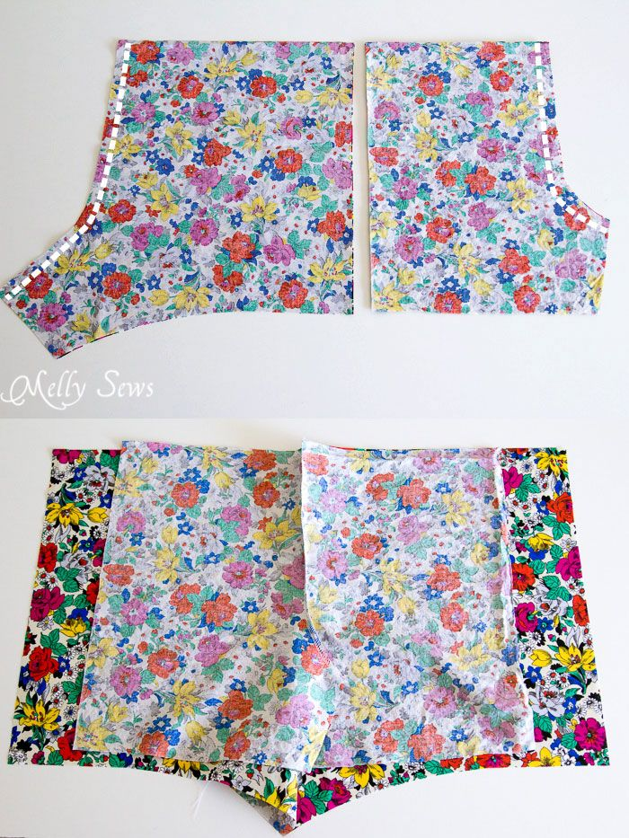 Step 1 - Boxer Pajama Shorts (with free pattern) - MellySews