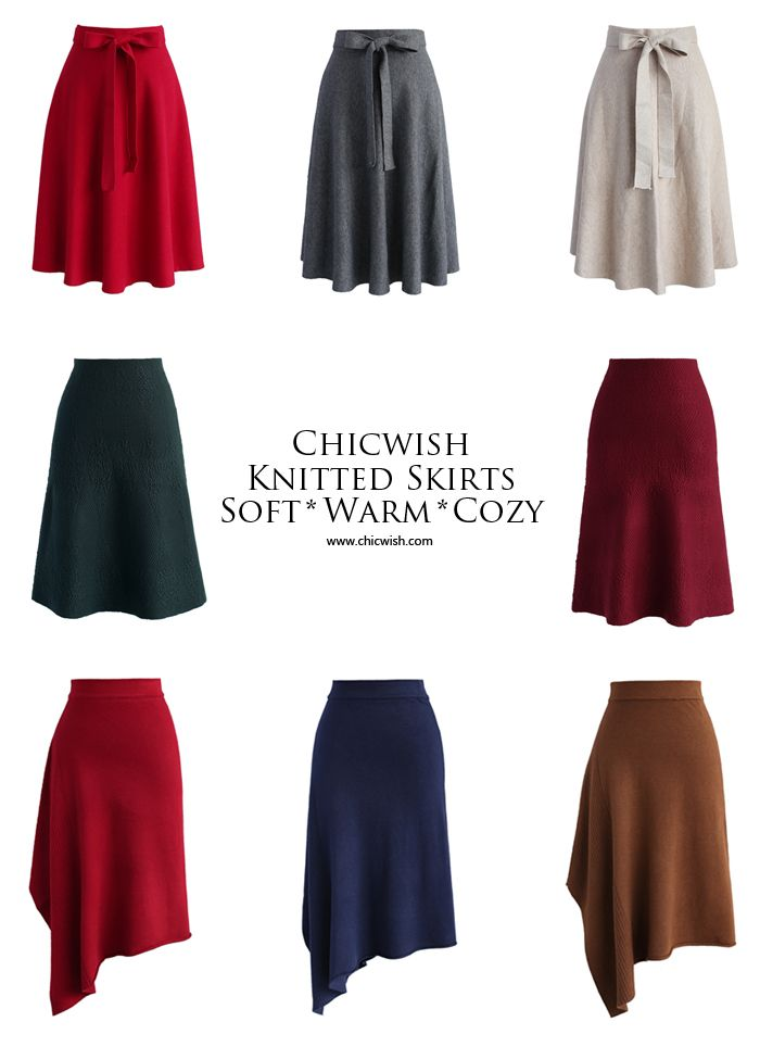 What do you get when you go sassy this fall? Keep comfy yet fabulous in these flattering knitted midi skirt! www.chicwish.com