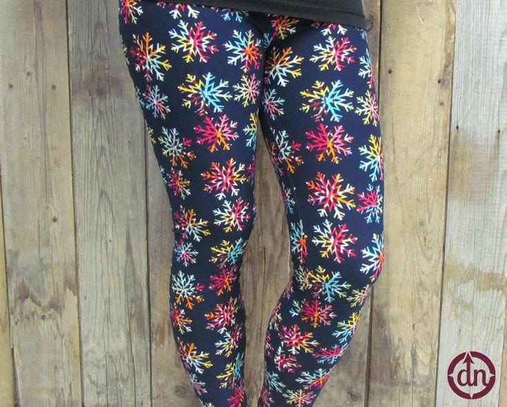 Rainbow Snowflakes Adult Leggings
