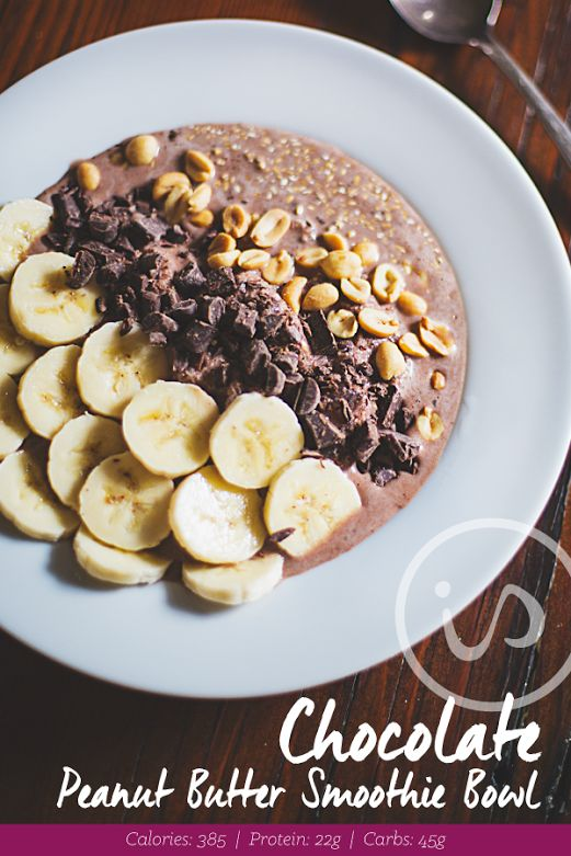 Does this look DIVINE or what?! Get your chocolate fix with this healthy Chocolate Peanut Butter #SmoothieBowl! Recipe: 1 scoop Chocolate IdealShake 1 cup unsweetened almond milk 2 T. PB2  1/2 of a banana 1-2 cups ice (Use more for a thicker smoothie. Thicker is better for a smoothie bowl!) Blend all ingredients together  Top with: 1/2 of banana sliced into pieces 2 T. dark chocolate chunks 2 T. unsalted peanuts ENJOY! :)