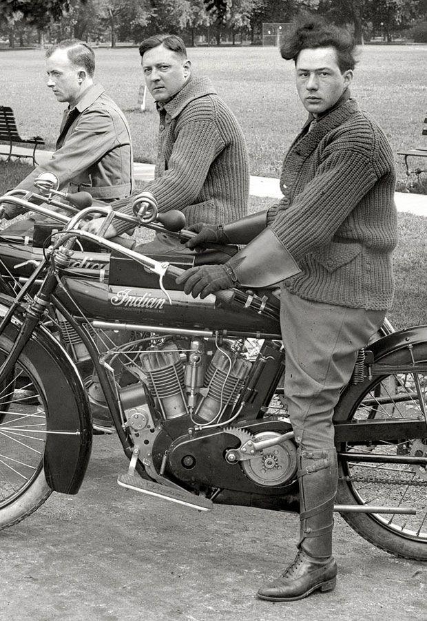 vintage motorcycle fashion #Biker_Fashion HelmetCity.com