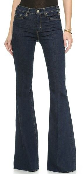 McGuire Denim Majorelle Flare Jeans (Color: When Heaven Fell) - PERFECT DARK FLARE JEANS!