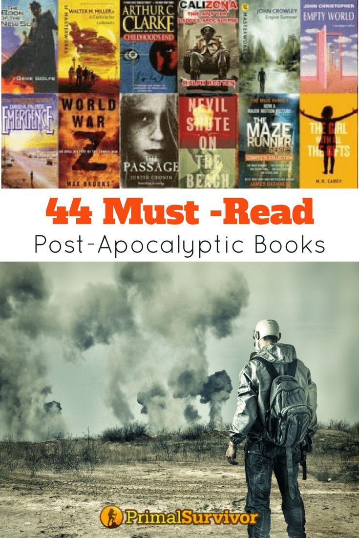 Best Post-Apocalyptic Books for Preppers to read. #apocalypse #postapocalyptic #fiction #survival #preppers #primalsurvivor