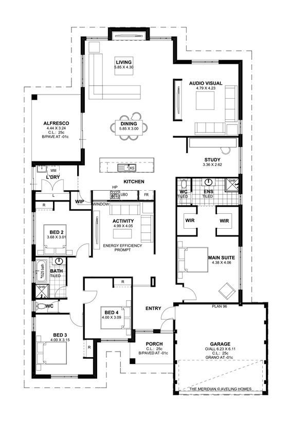 floor plan friday 4 bedroom theatre activity and study katrina chambers - House Floor Plan
