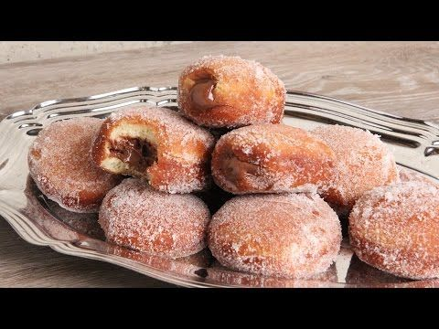 Bomboloni with Nutella Recipe - Laura in the Kitchen - Internet Cooking Show Starring Laura Vitale