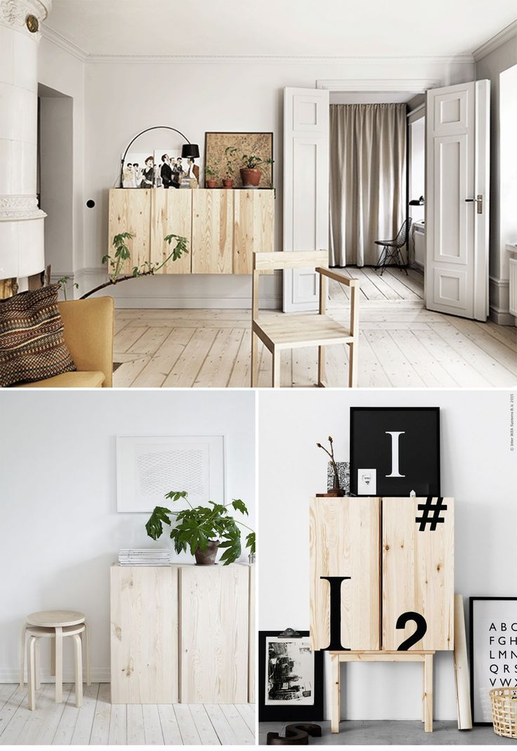 Again, IKEA Ivar in raw material and color. Looking great in these Scandi inspired interiors.