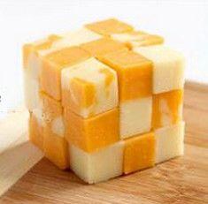 Rubik's Cube cheese from http://www.blackdiamond.ca/