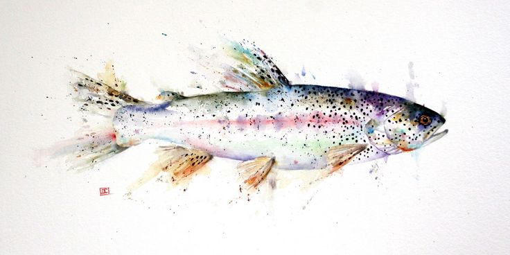 Dean Crouser; 'Coastal Cutthroat'. Just painted this one for the next issue of 'Salmon and Steelhead Journal' magazine.