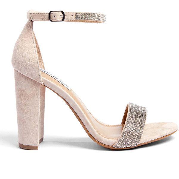 6c9cf5fb782 Steve Madden Carrson Rhinestone Ankle Strap Heel ($100) ❤ liked on ...