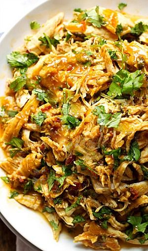 Spicy Chipotle Shredded Chicken  Pairs perfectly with Chardonnay.  #wine #winepairing