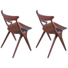 Pair of Model 71 Side Chairs by Arne Hovmand-Olsen