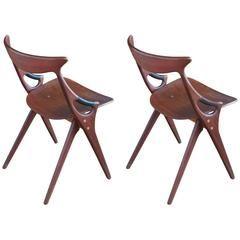 Pair of Model 71 Side Chairs by Arne Hovmand-Olsen