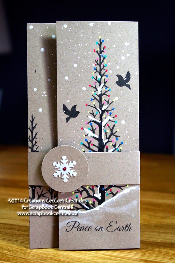INSPIRATION FOR SIZE, BAND & COLORS/USE COLOR PENCILS ON STAMPED IMAGE?   INCLUDES VIDEO   THIS IS A GIFT CARD HOLDER