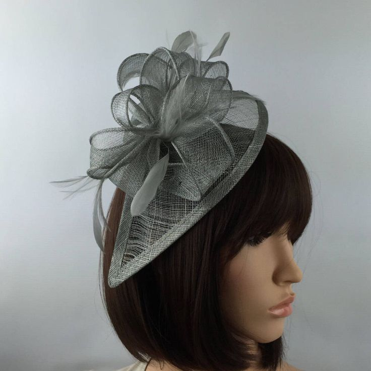 Excited to share the latest addition to my #etsy shop: Medium Silver fascinator Medium Grey fascinator wedding mother bride Ladies Day & Ascot races, occasion event prom #weddings #accessories #grey #hatsandfascinators #greywedding #silverwedding #ladiesday #greyfascinator #ladiesfascinator
