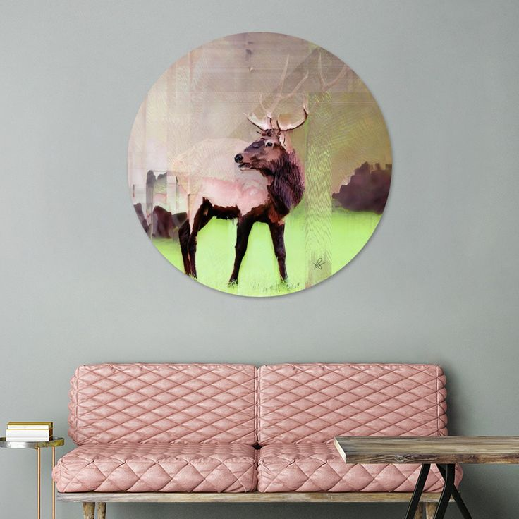 «One Stag», Exclusive Edition Disk Print by Okti W. - From $59 - Curioos