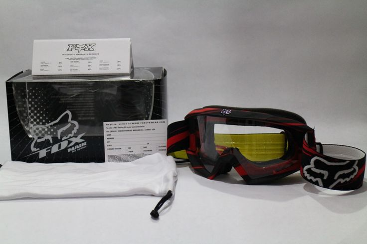 lentes mx fox para casco motocross rojo amarillo negro cross