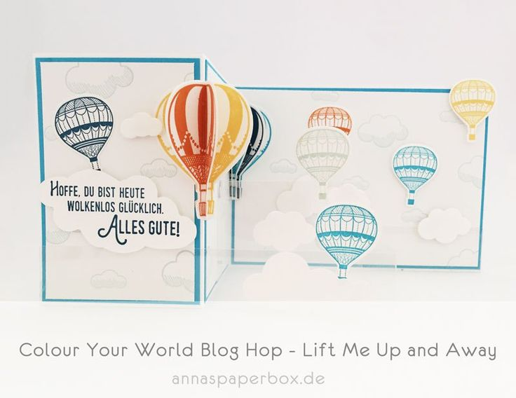 Colour Your World Blog Hop - Lift Me Up and Away - anna's paperbox