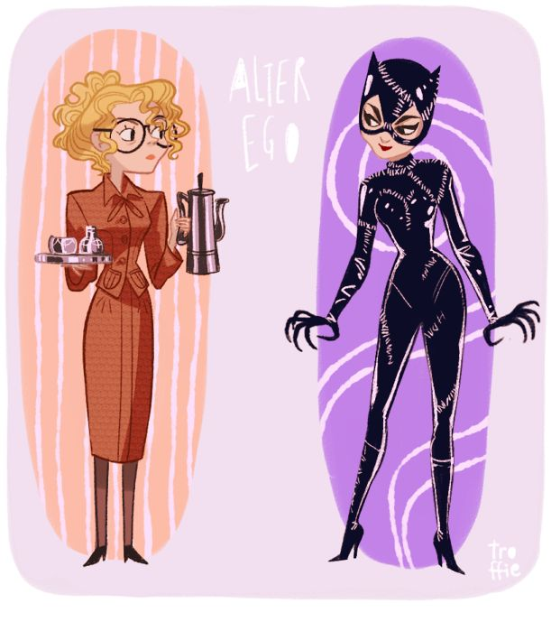 Alter ego. Catwoman. Illustration.