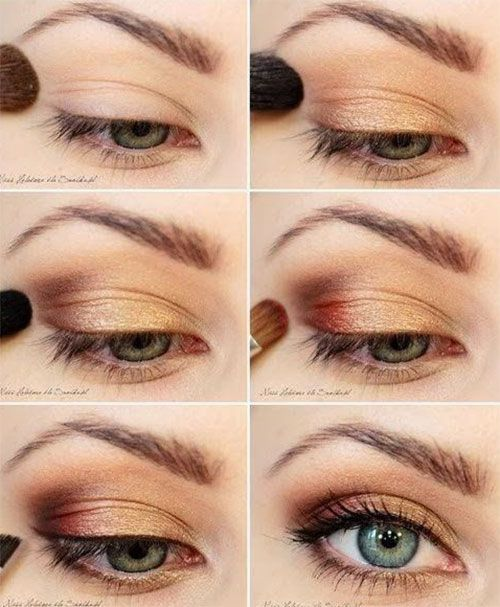 25 trending fall makeup ideas on pinterest face makeup dark pretty golden eye makeup tutorial for green eyes ccuart Images
