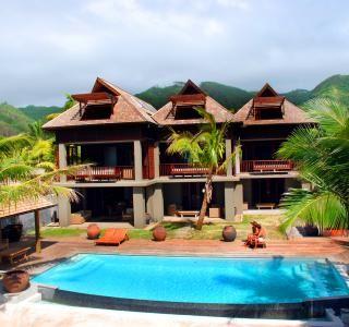 Te Vakaroa Villas med pool på Cook Islands