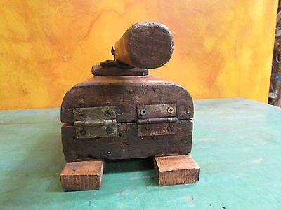 Antique Tortilla Press #15-Old Mexican-Primitive-Rustic-Wood-Original-13x7x7