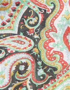 MULTI-Silk Paisley Scarf