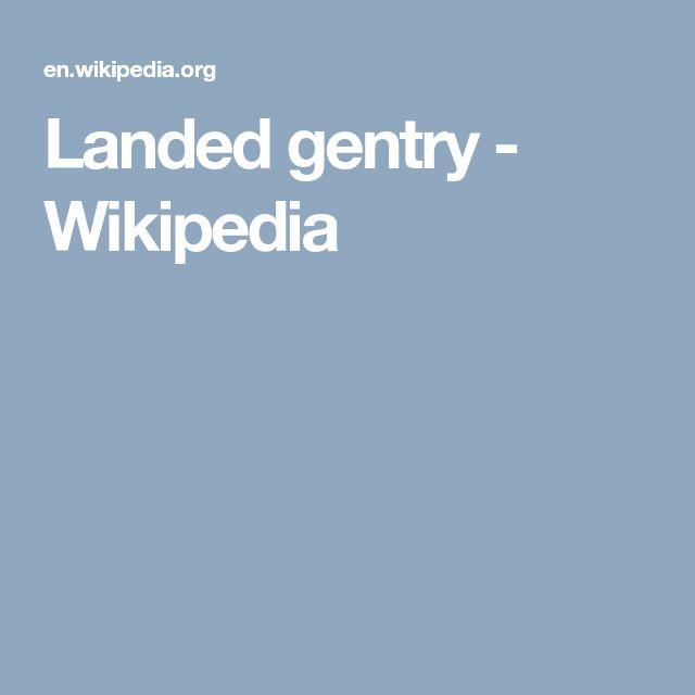 Landed gentry - Wikipedia