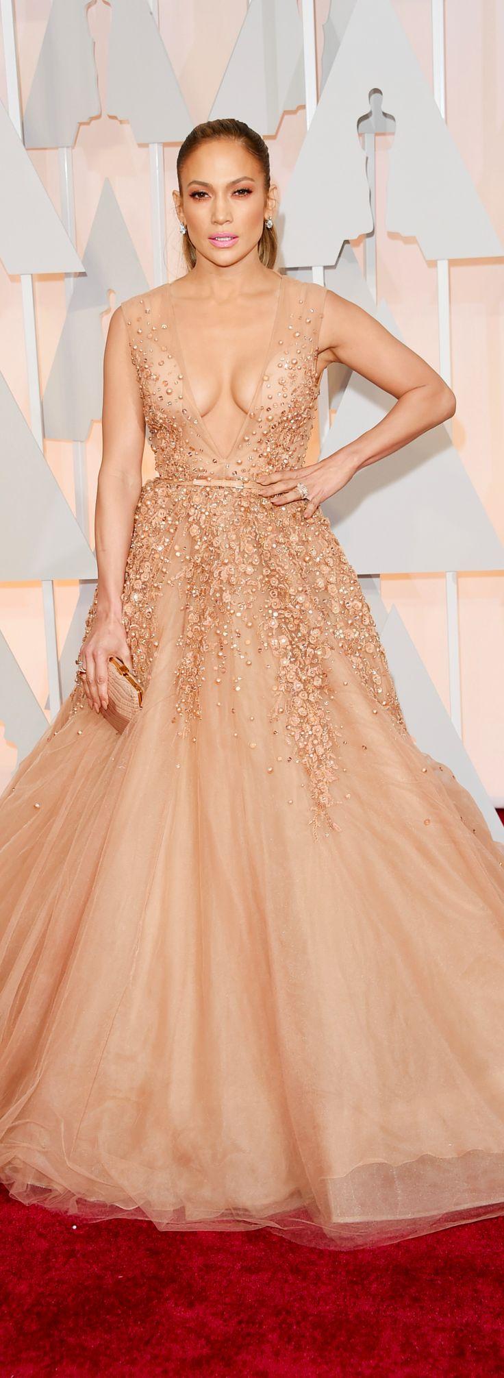Jennifer Lopez in Elie Saab at the Oscars