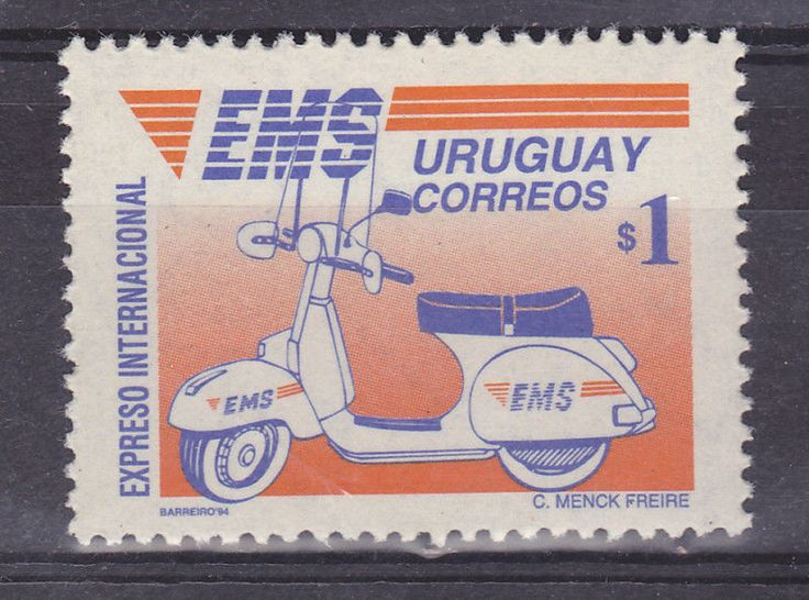 Motorbike scooter vespa postal service motorcycle URUGUAY Sc#1449 MNH STAMP