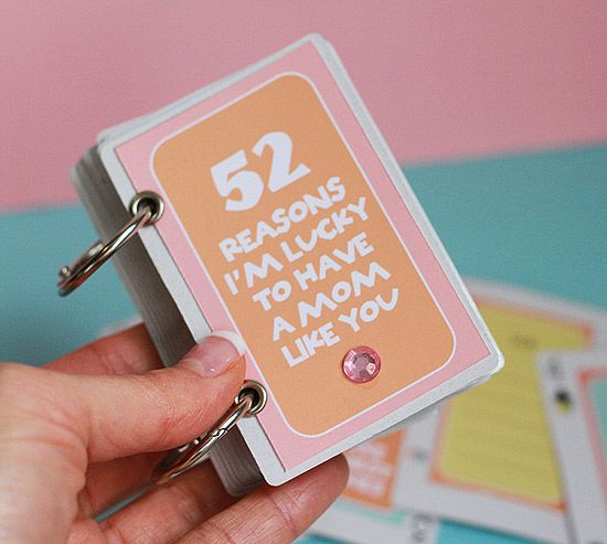 Best Gifts For Mom Images On Pinterest - Best of 52 reasons why i love you cards templates ideas
