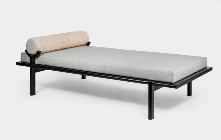 Bleached Ash Wood Crescent Lounge or Chaise Longue by ...