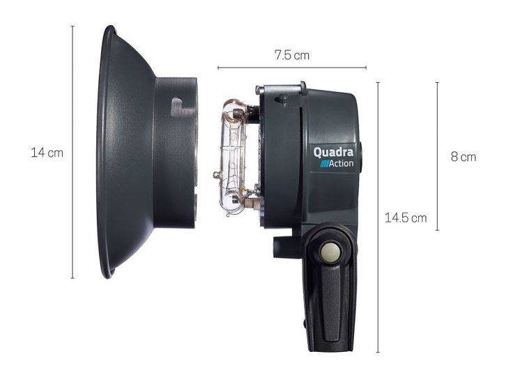 ELINCHROM - Products - ELB 400 Heads Dimensions