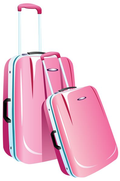 Pink Travel Bags PNG Clipart Image