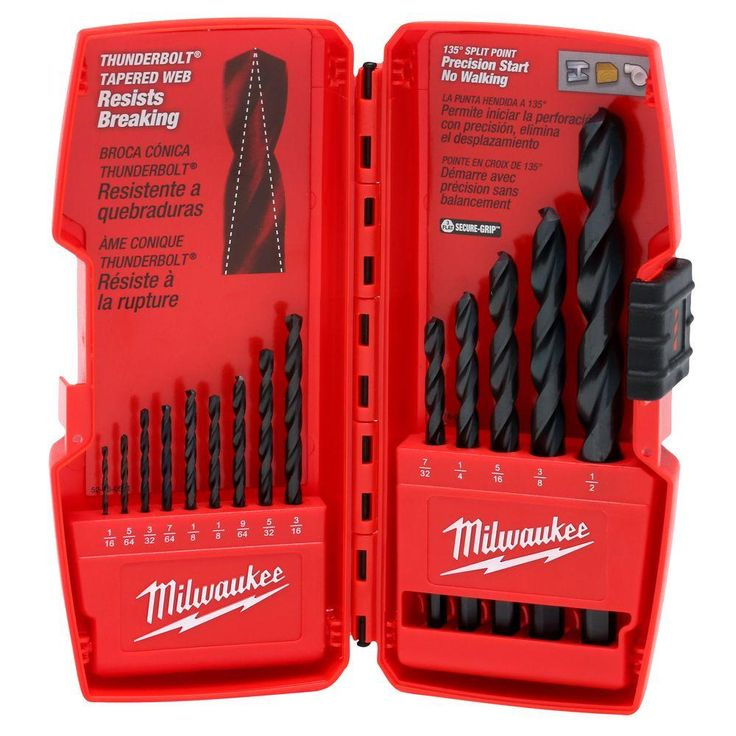 Milwaukee Black Oxide Drill Bit Set (14-Piece)