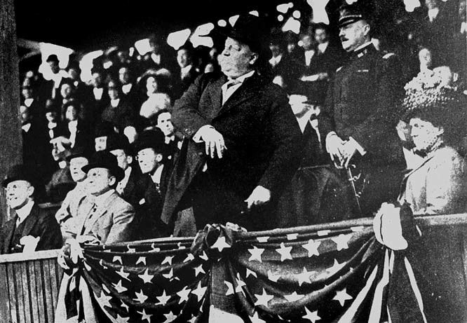 William Howard Taft throws out the first first pitch, April 14, 1910.