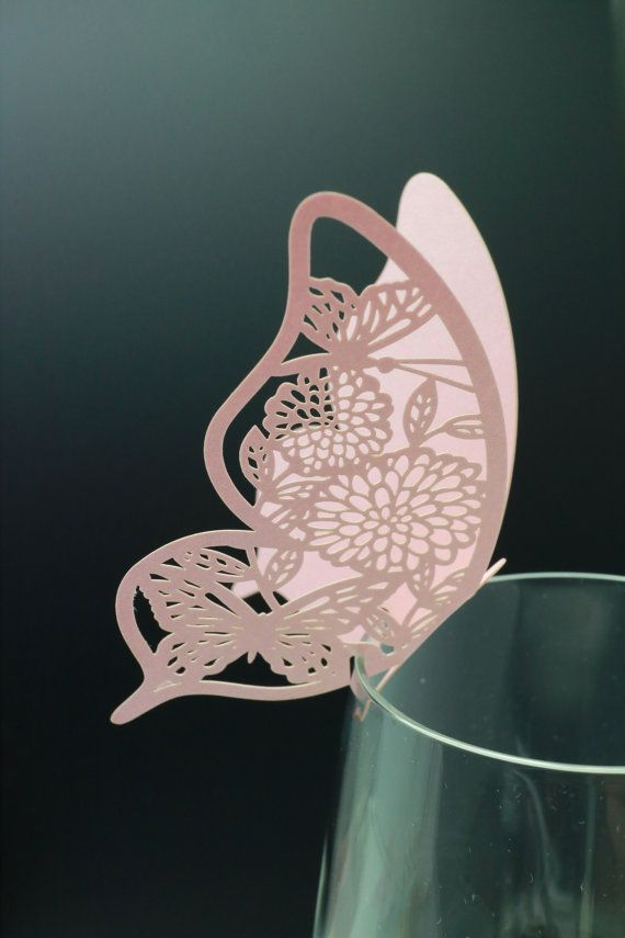 100 Paper Craft Laser cut Beautiful Butterfly by Happy22gether, $21.99