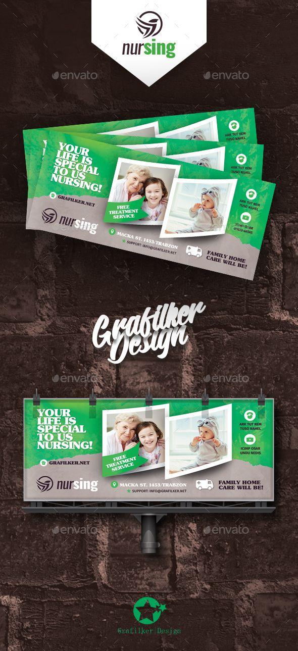 #Nursing Home Billboard Templates - #Signage Print Templates