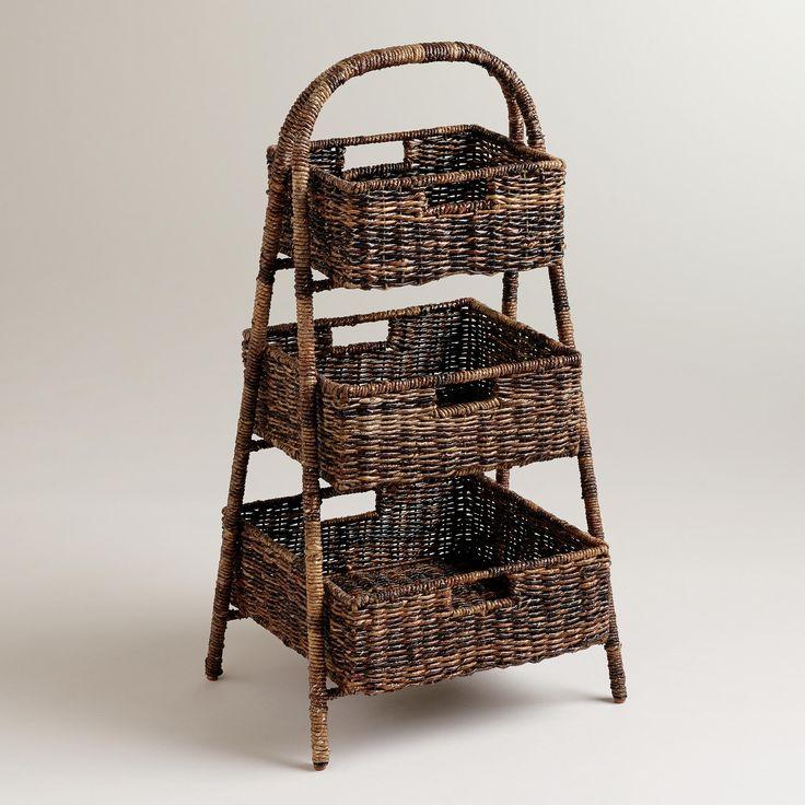 marisa madras 3 basket tray stand world market in the kitchen pinterest trays kitchen. Black Bedroom Furniture Sets. Home Design Ideas