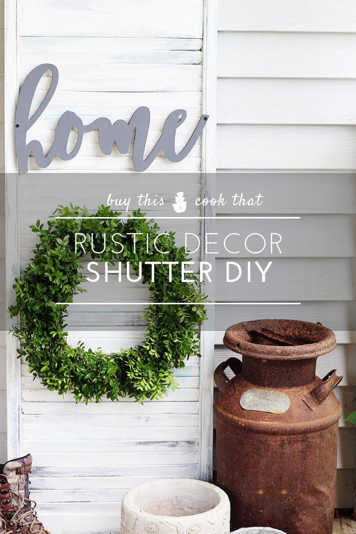 Rustic Wall Decor Shutter Diy Diy Shutters Rustic Wall Decor Decor