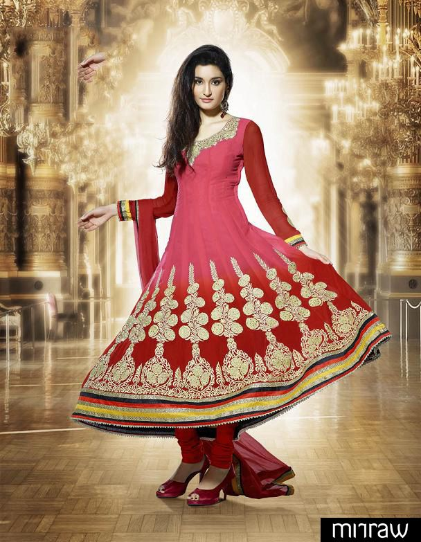Gorgeous red party wear salwar kameez