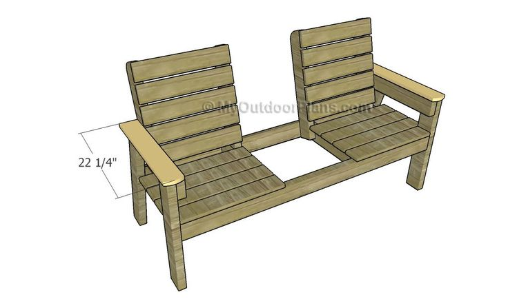 Double Seating With Center Table Or Cooler Plans